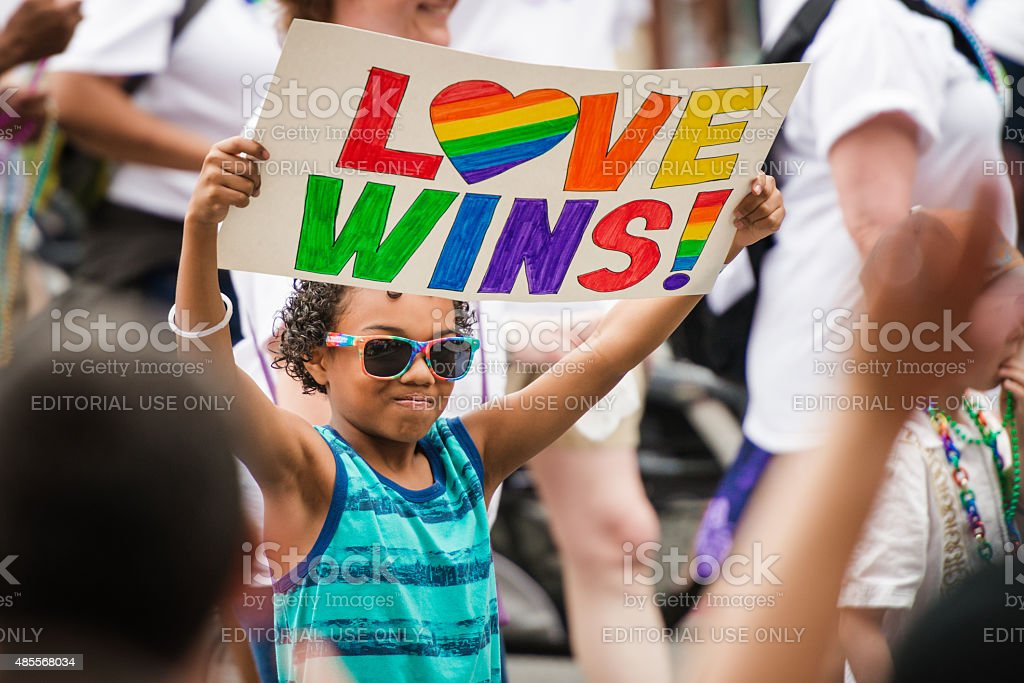 Love Wins stock photo