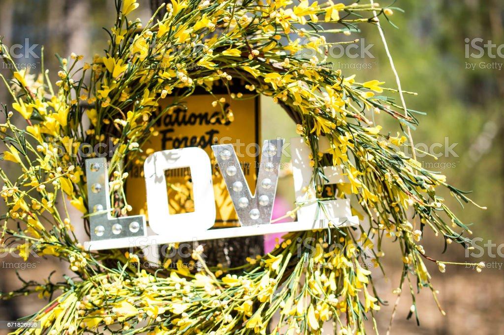 Love Wreath stock photo