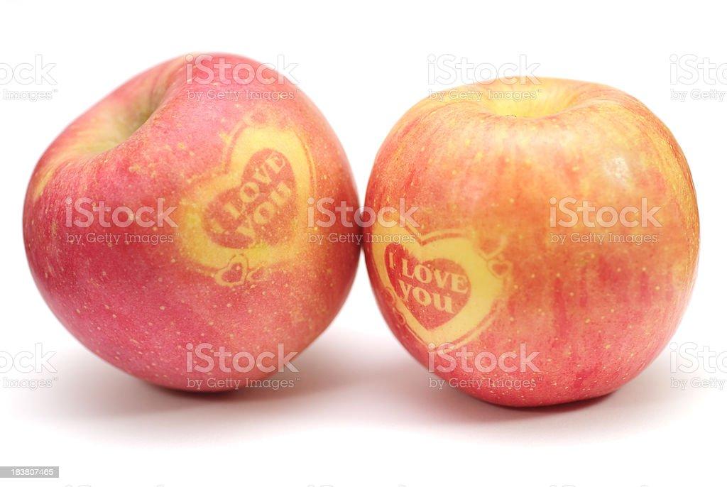 I love you - Apple stock photo