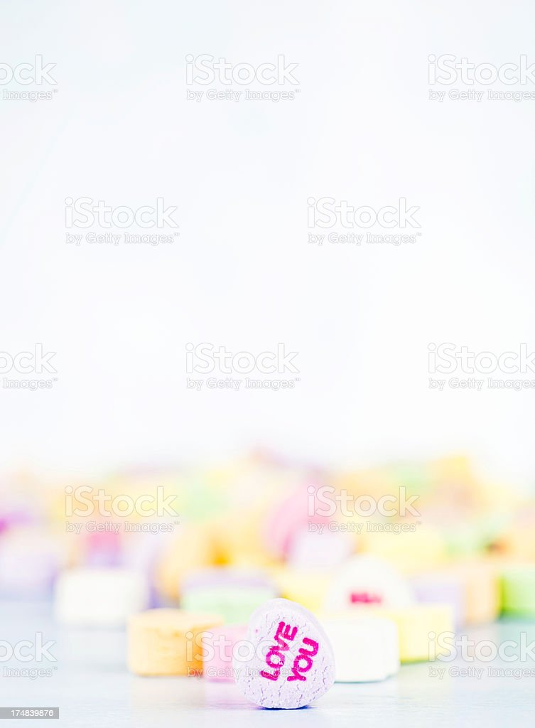 Love You Candy Message royalty-free stock photo