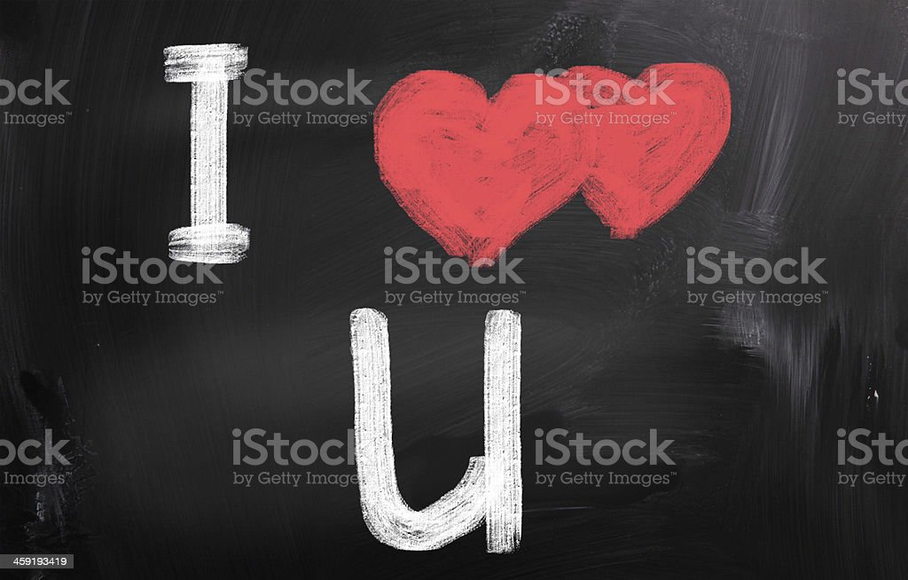 I Love You Concept stock photo
