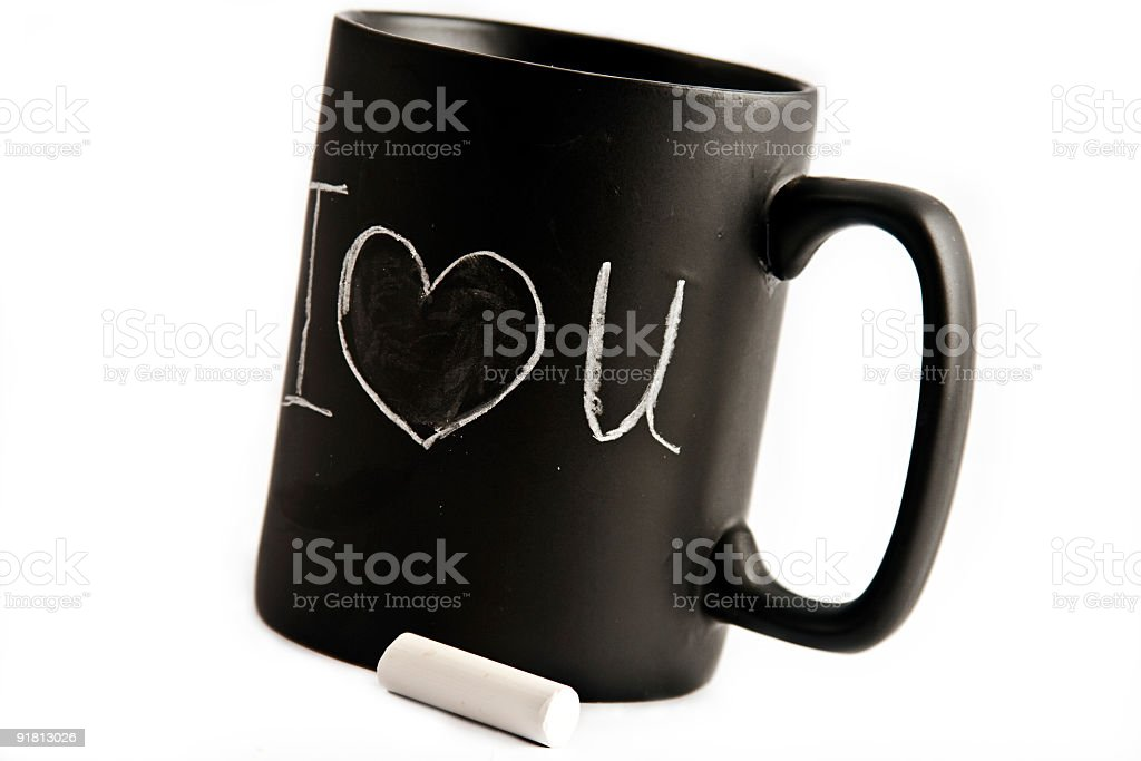 I love you cup stock photo