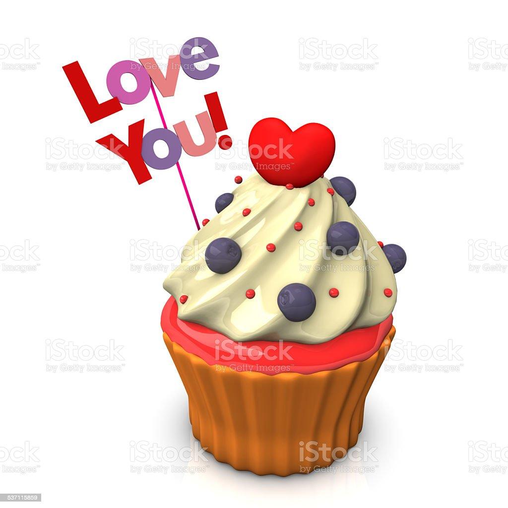 Love You Cupcake stock photo