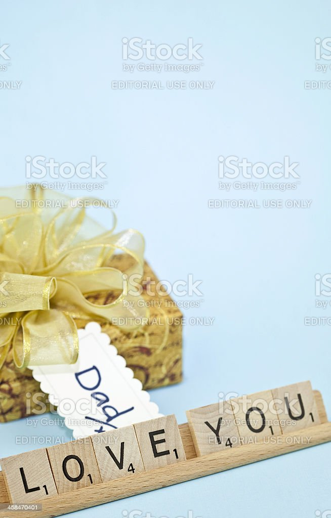 Love You Dad royalty-free stock photo