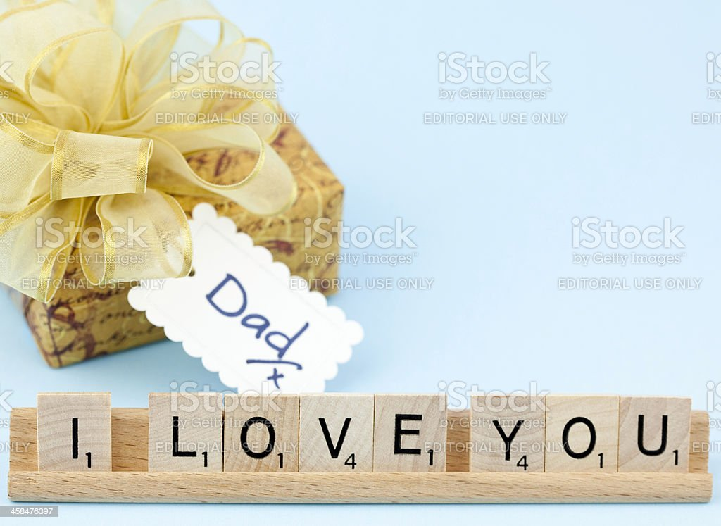 I Love You Dad royalty-free stock photo