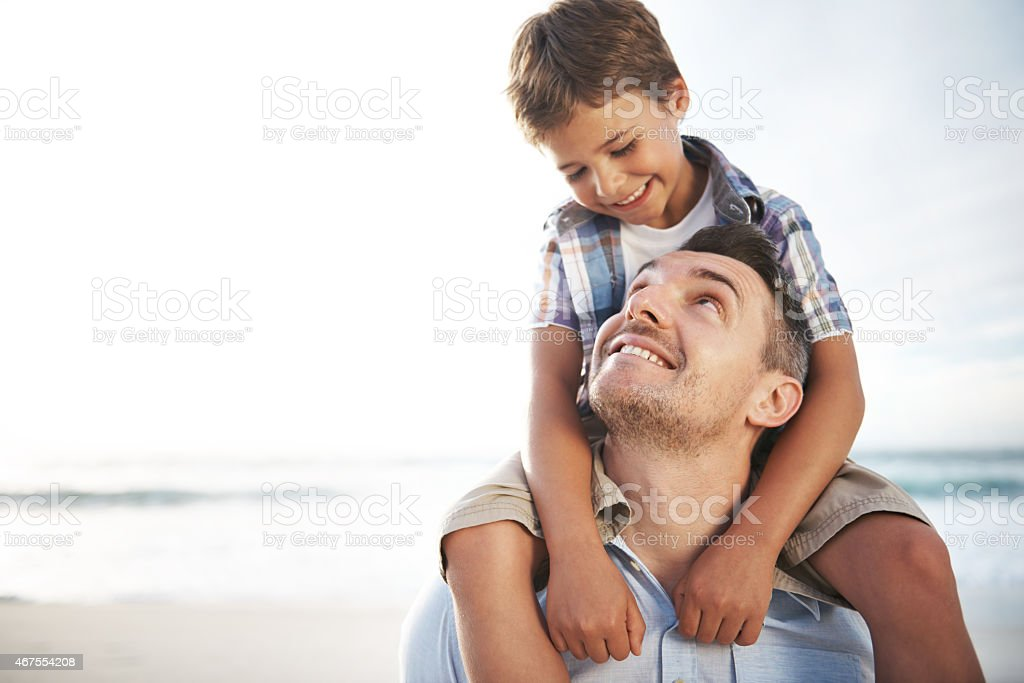 Love you, Dad stock photo
