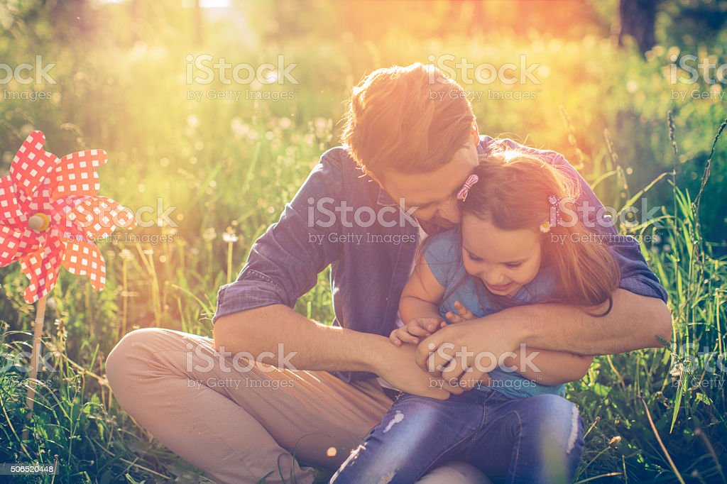 I love you dad! stock photo
