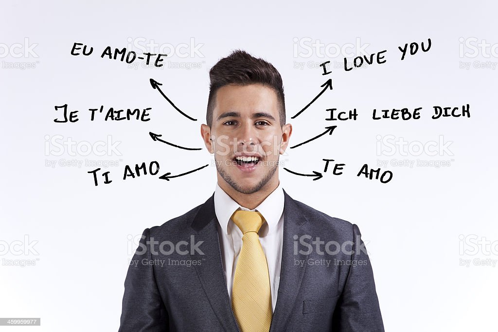 I love You in all languages stock photo