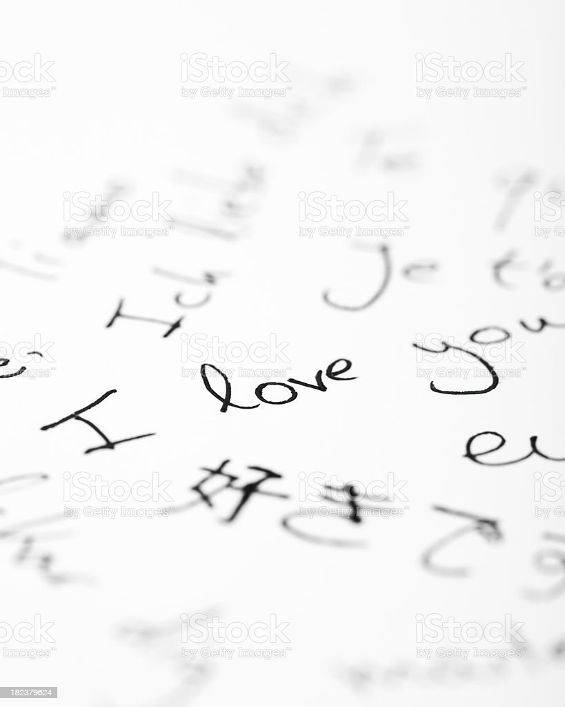 I love you in different languages royalty-free stock photo