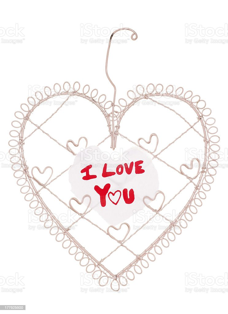 I love you message on a heart note board royalty-free stock photo