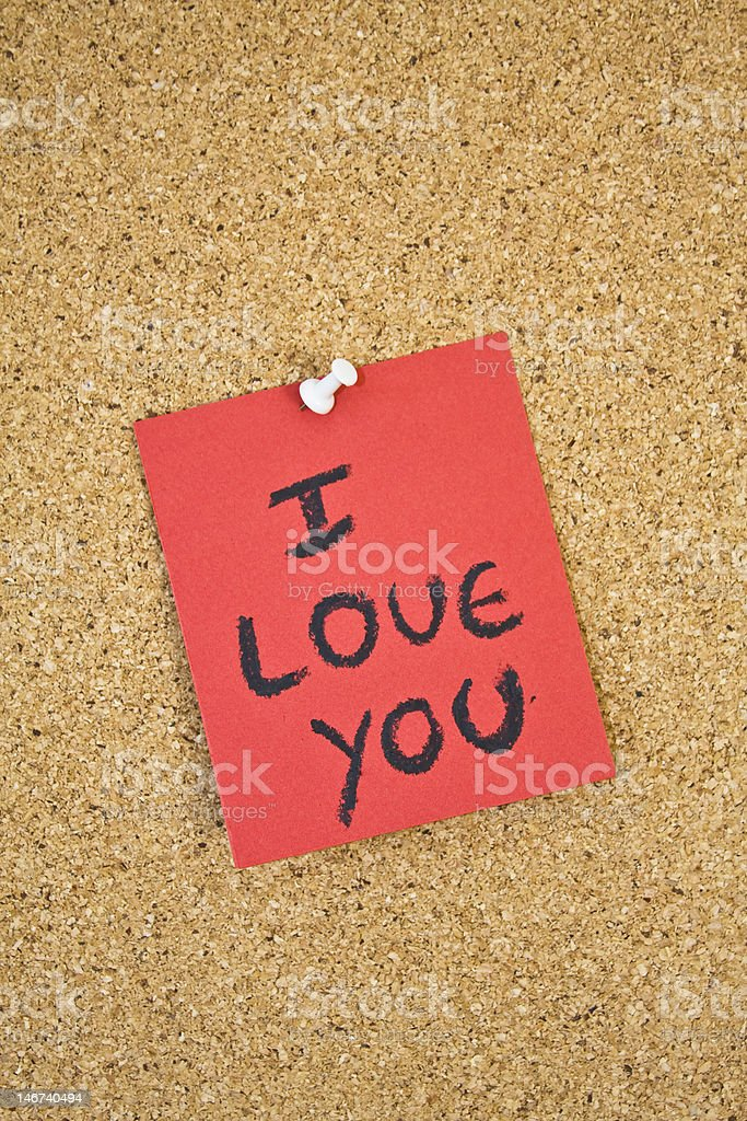 I love you message. royalty-free stock photo