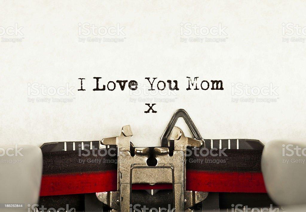 I Love You Mom royalty-free stock photo
