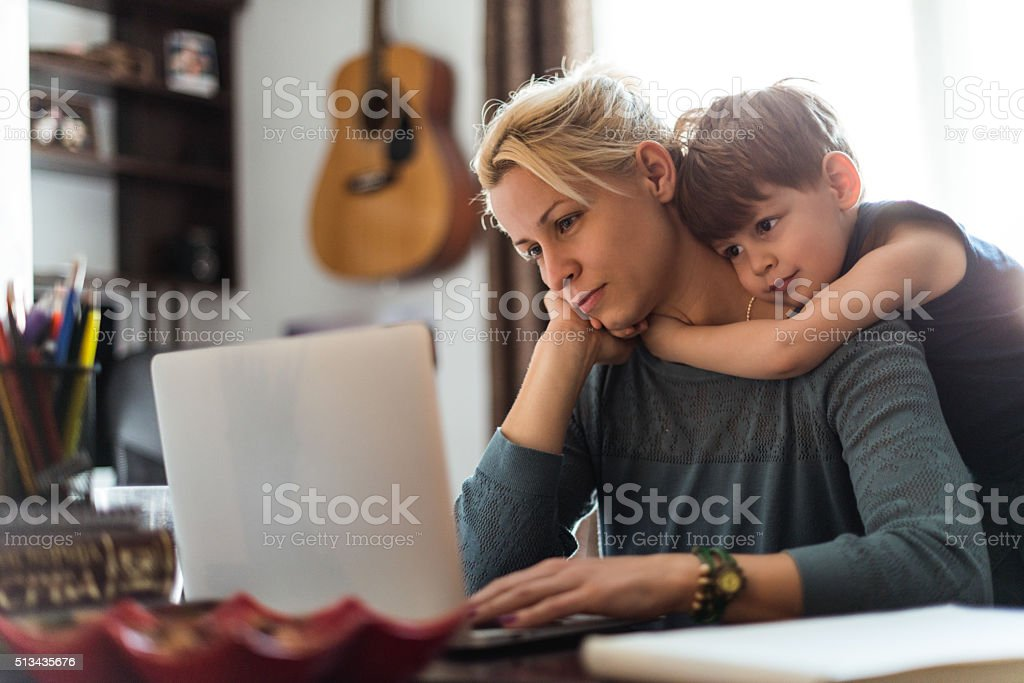 I love you mom! stock photo
