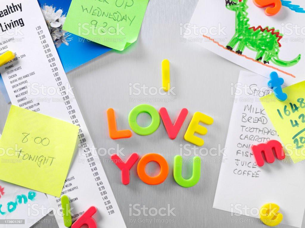 I Love You Notice royalty-free stock photo