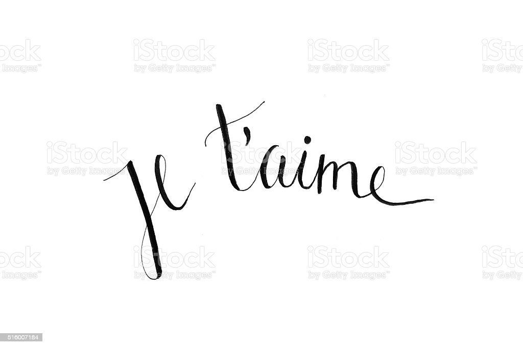Je t'aime stock photo