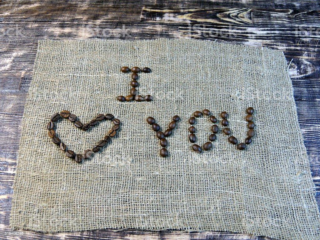 Me amor se (café beans foto de stock libre de derechos