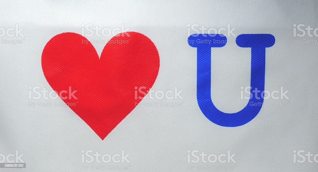 Love You stock photo