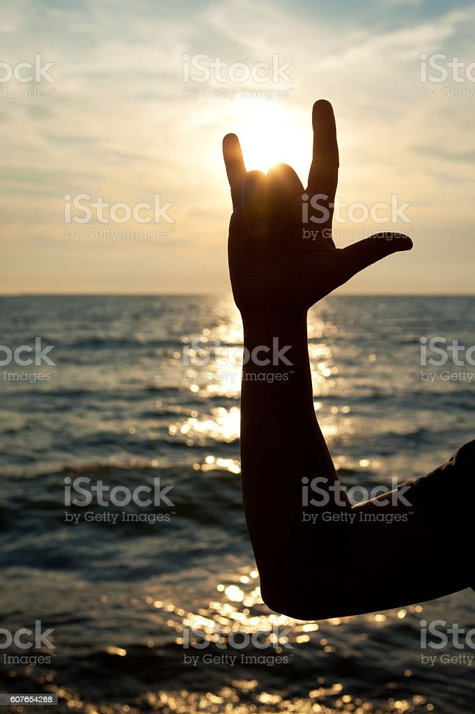 I Love You Sign Language stock photo