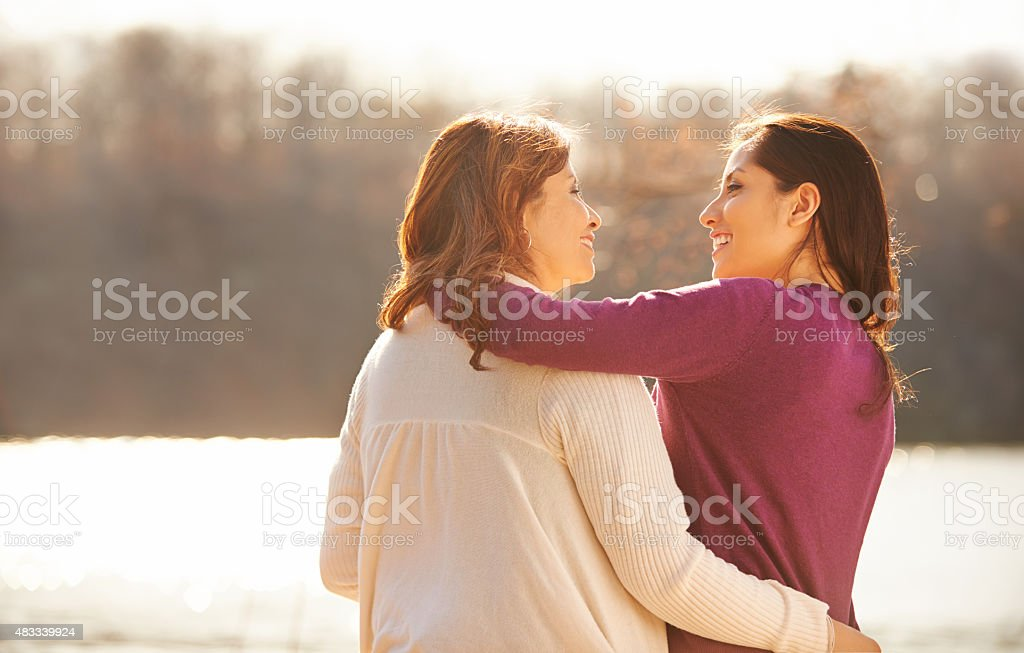 Love you so much, Mom! stock photo