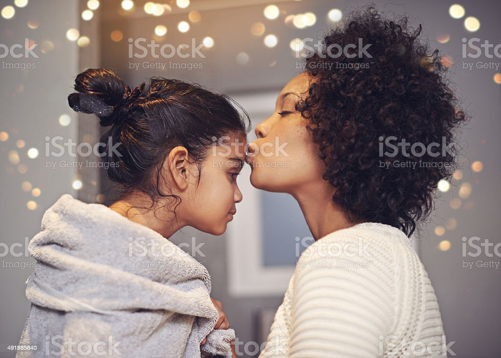 Love you so much, my angel stock photo