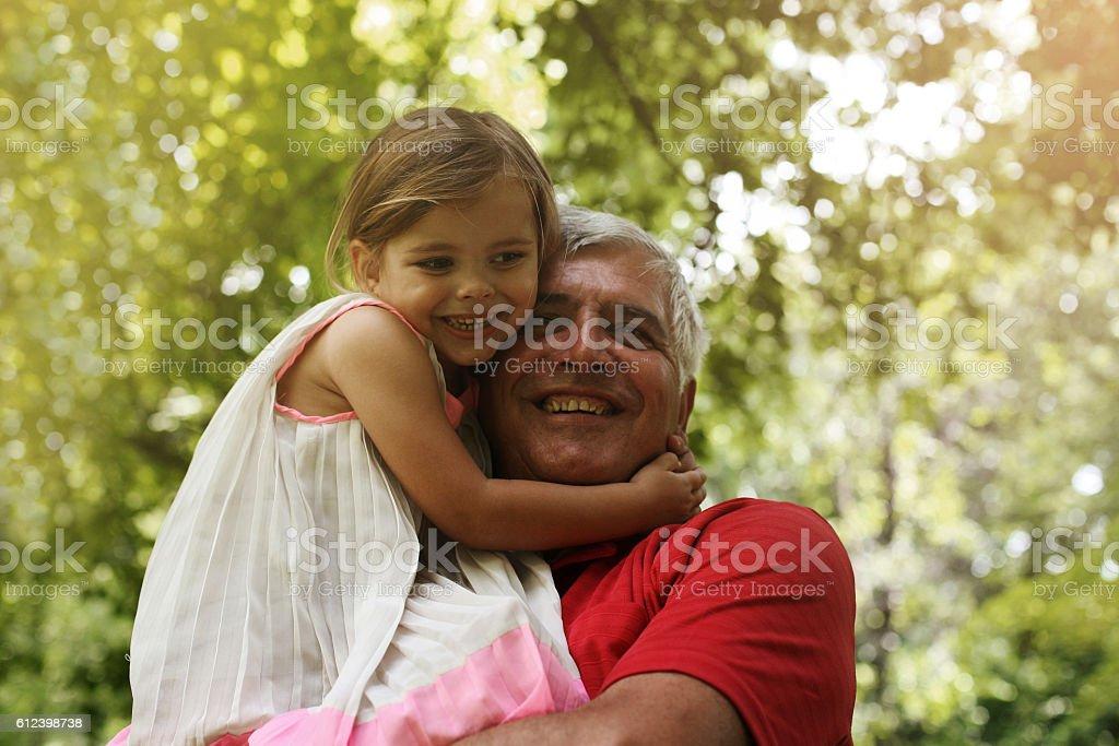 Love you so much my grandpa. stock photo