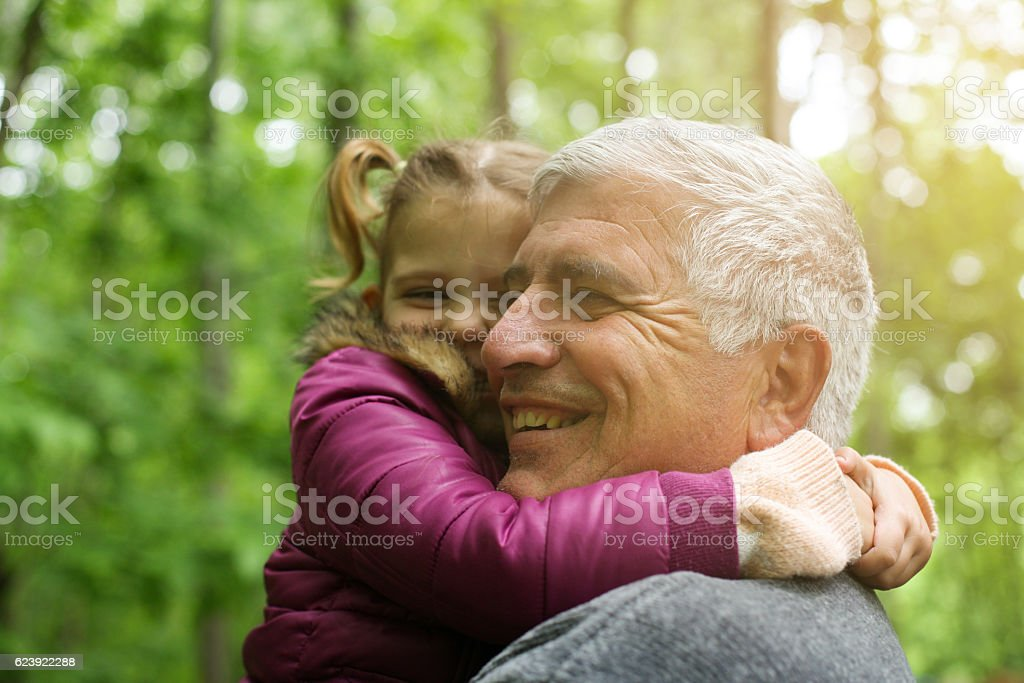Love you so much my grandpa. stock photo