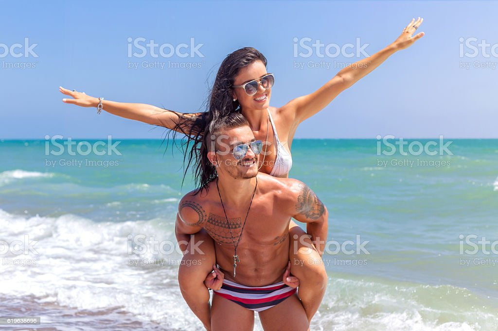 I love you to the beach and back stock photo