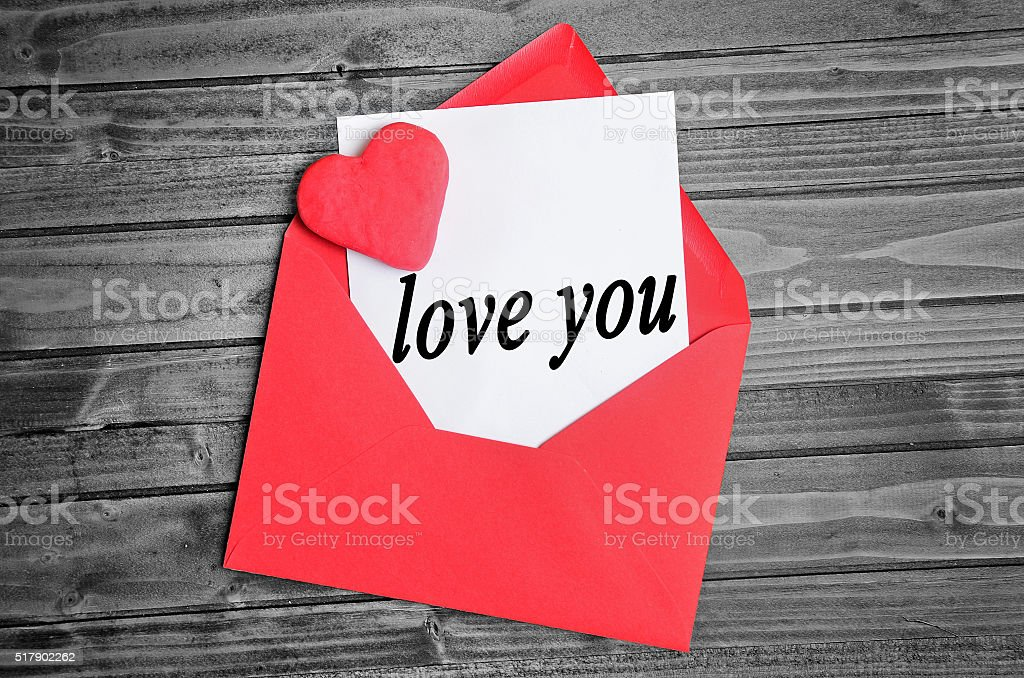 Love you word stock photo