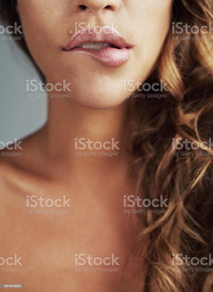 Love your lips stock photo