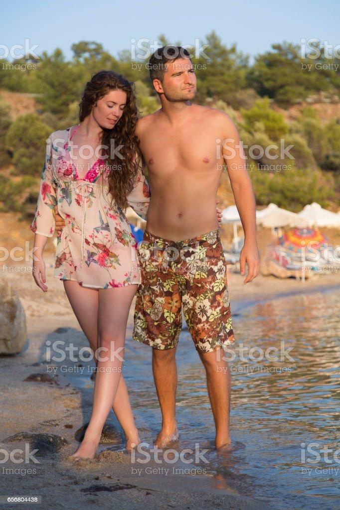 Lovebirds On Vacation stock photo