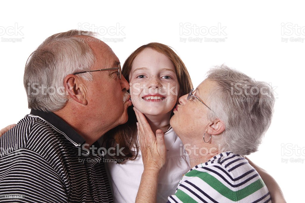 Loved Granddaughter royalty-free stock photo