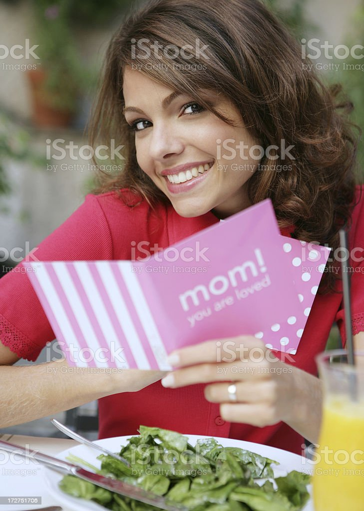 Loved mom royalty-free stock photo