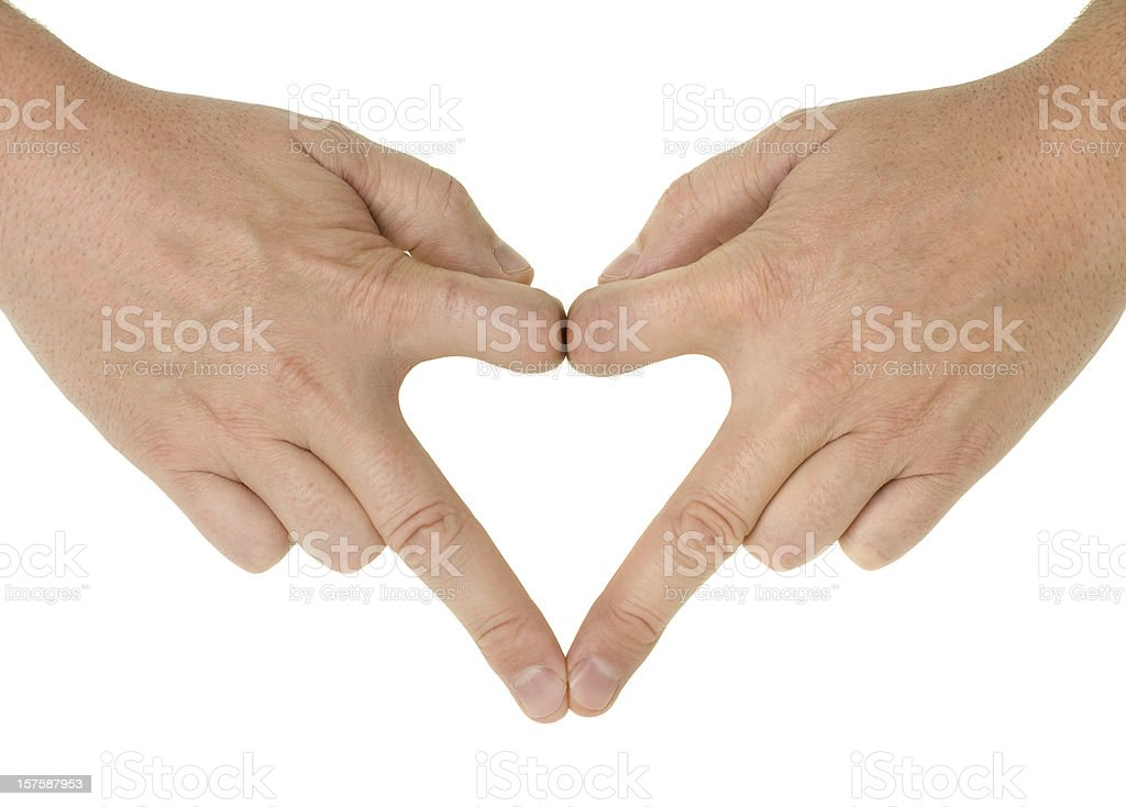 Love/hate hands royalty-free stock photo