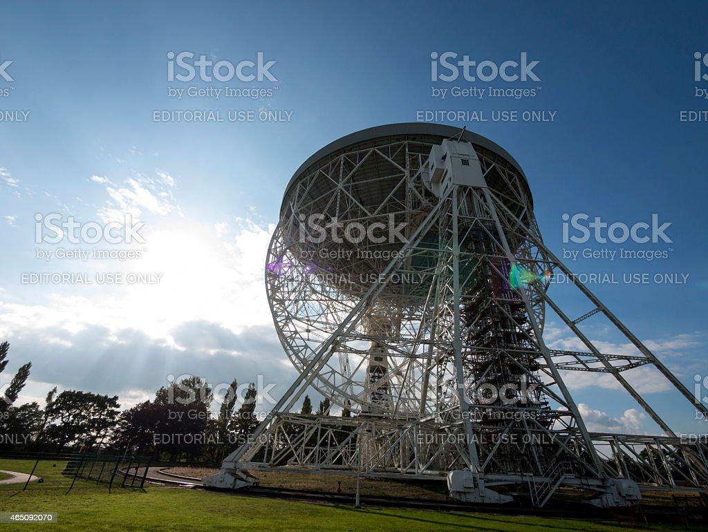Lovell Telescope , Jodrell Bank Observatory, Macclesfield,Cheshire stock photo
