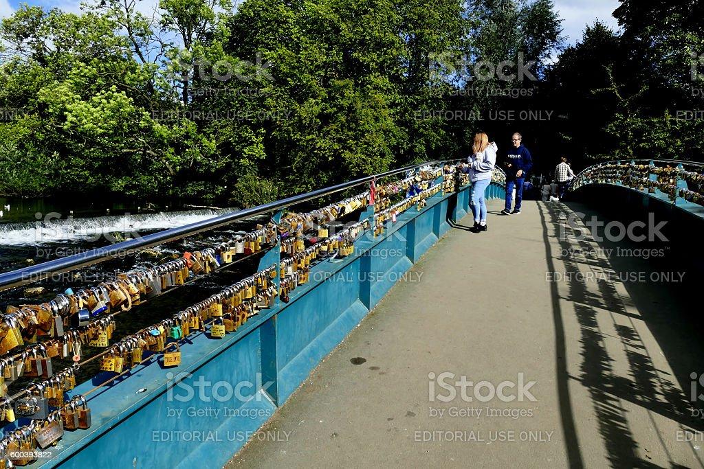 Lovelock footbridge. stock photo