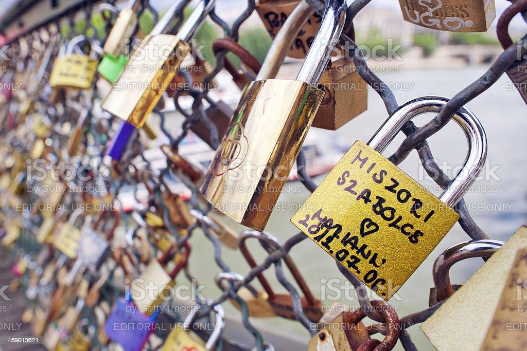 Love-locks stock photo