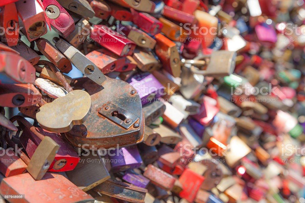 Lovelocks stock photo