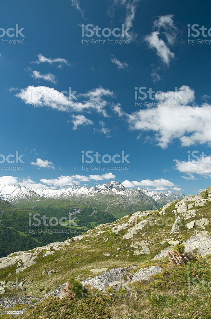 lovely alpine landscape royalty-free stock photo