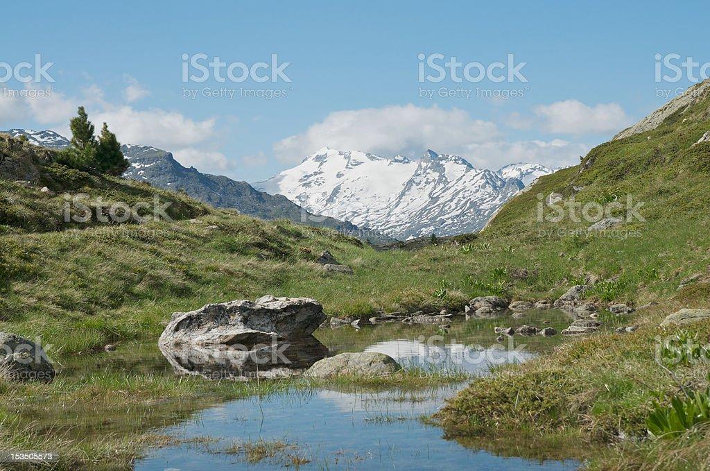lovely alpine landscape royalty-free stock photo