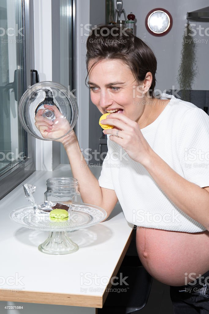 Lovely and nice Belly of a pregnant woman stock photo