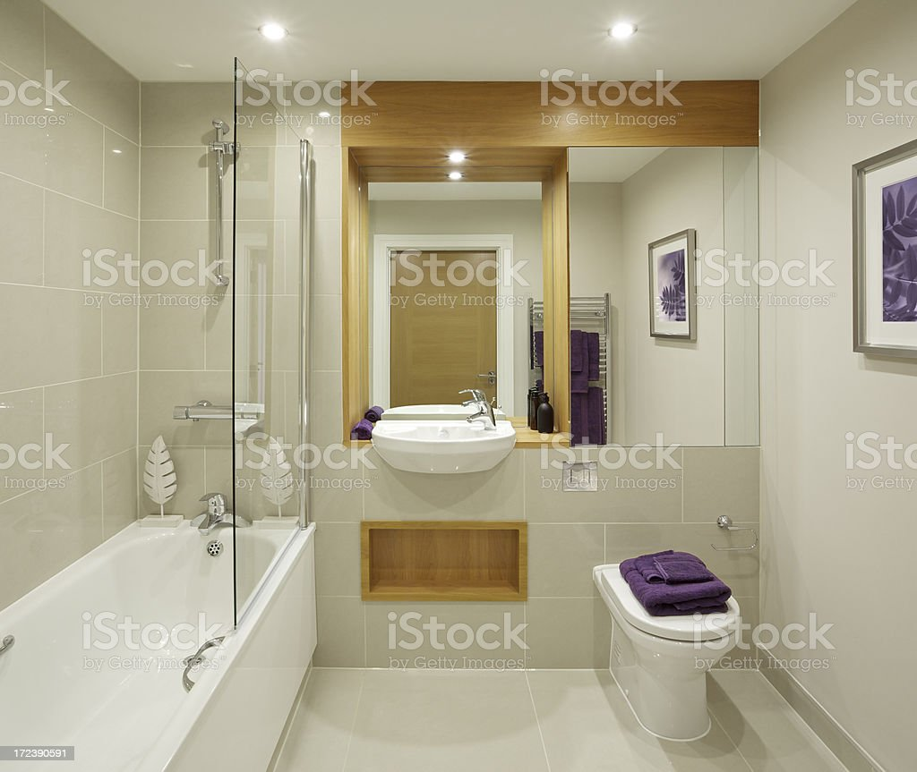 lovely apartment bathroom stock photo
