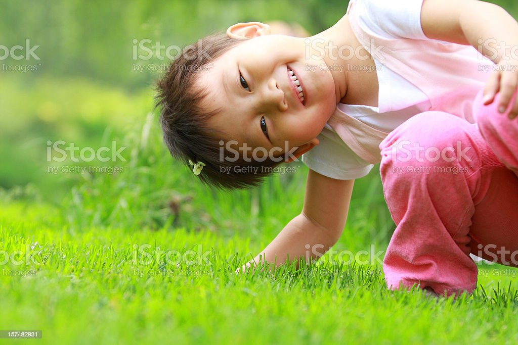 lovely asian little girl playing royalty-free stock photo