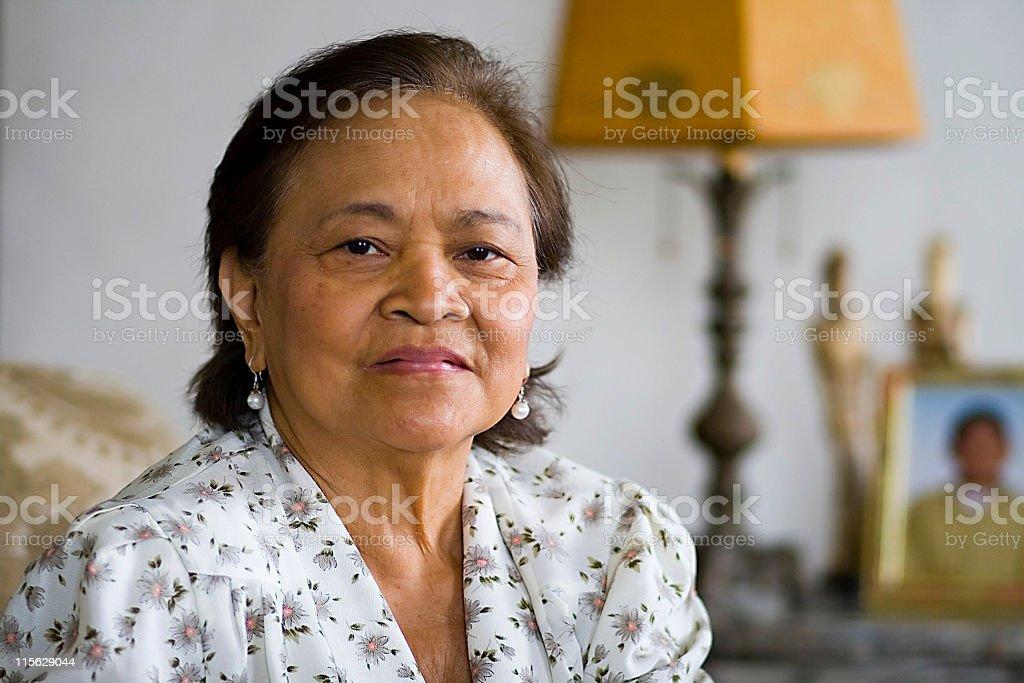 Lovely Asian Senior Citizen stock photo