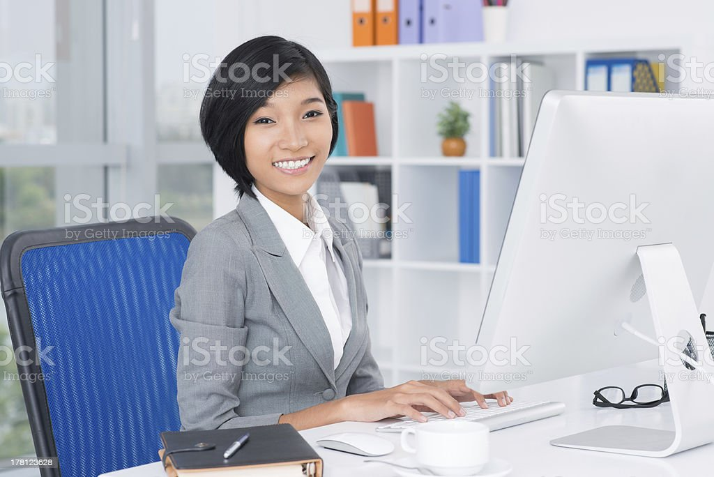 Lovely assistant stock photo