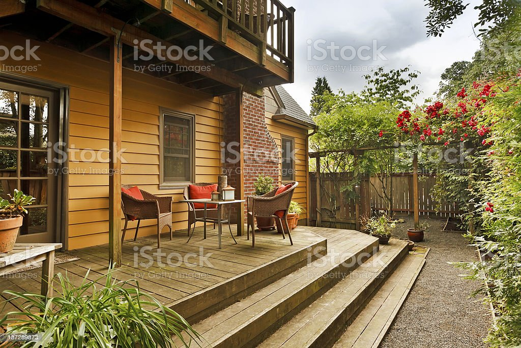 Lovely Back Deck stock photo