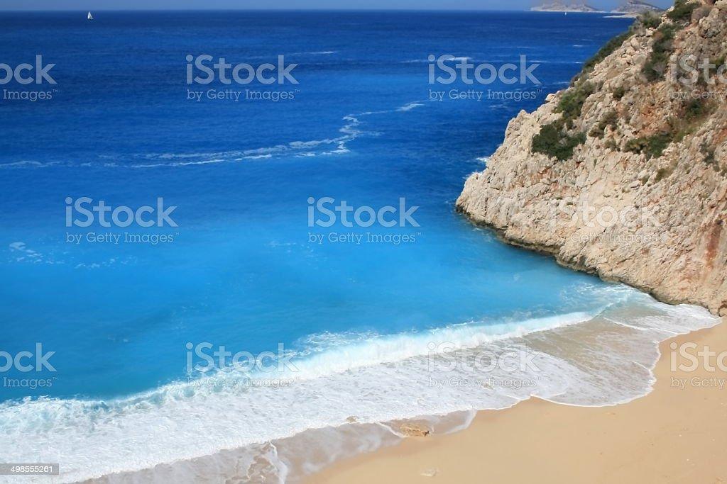 lovely beach of Kaputas bay stock photo