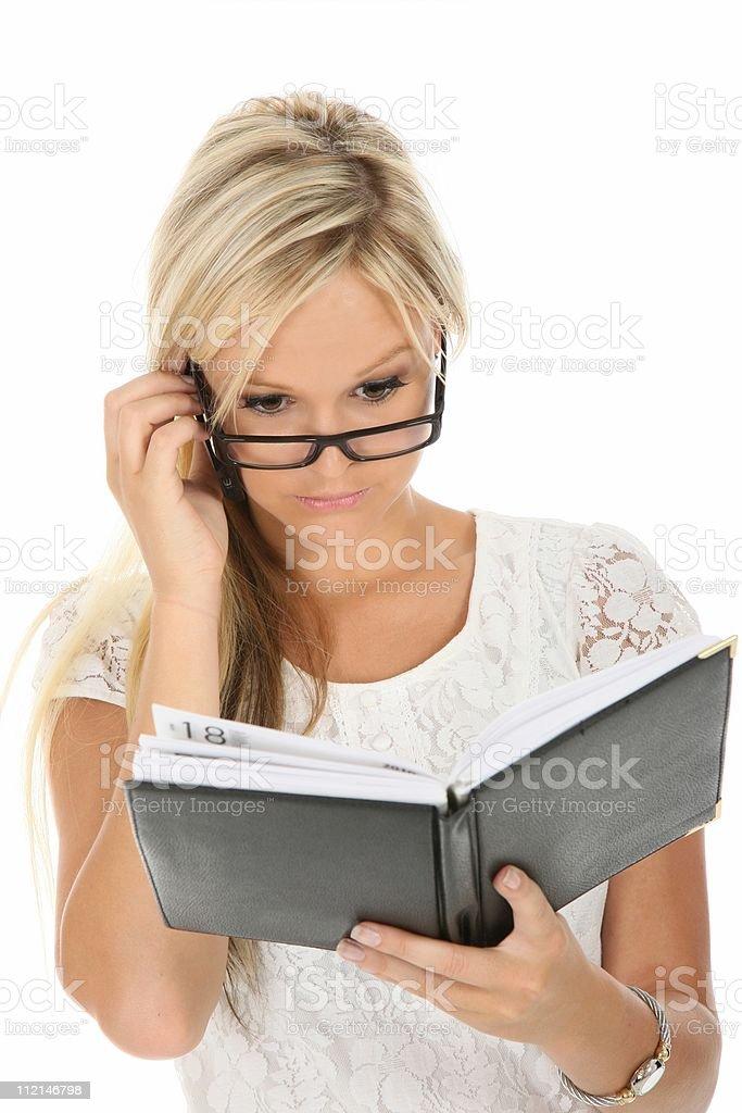 Lovely Blond Businesswoman stock photo