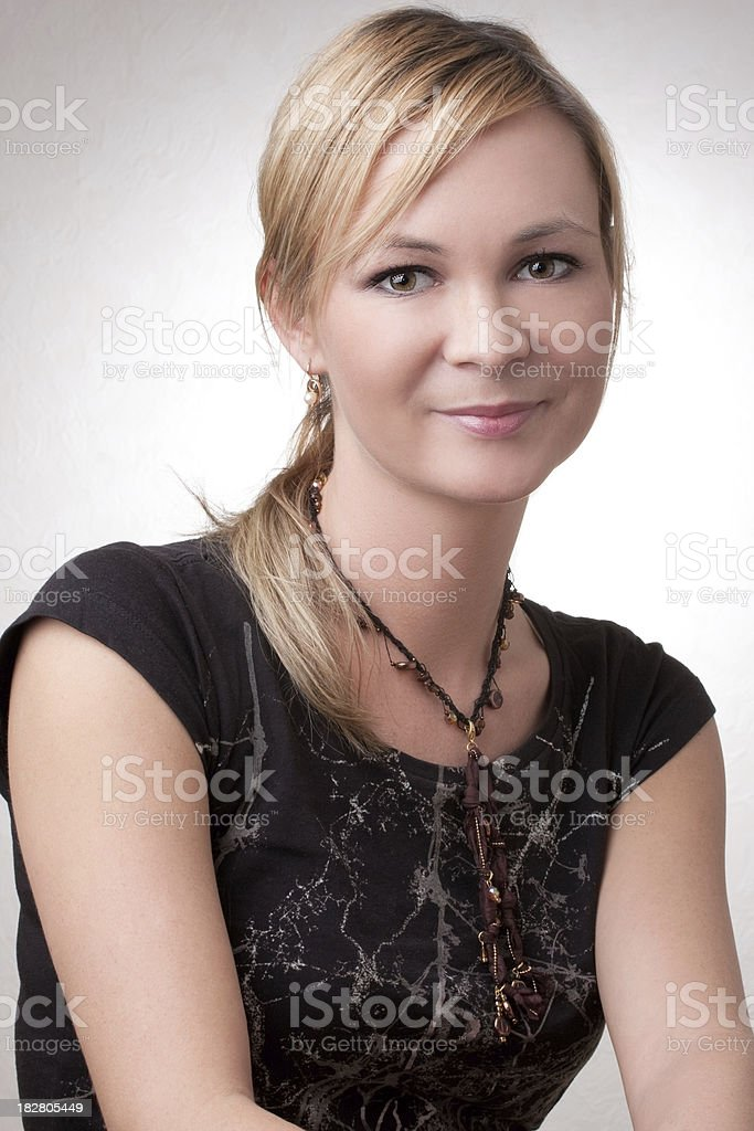 Lovely blonde woman stock photo