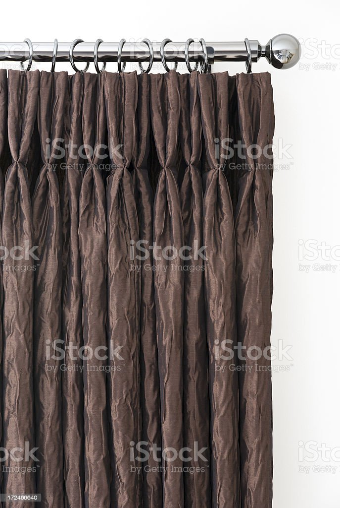 lovely bronze curtains royalty-free stock photo