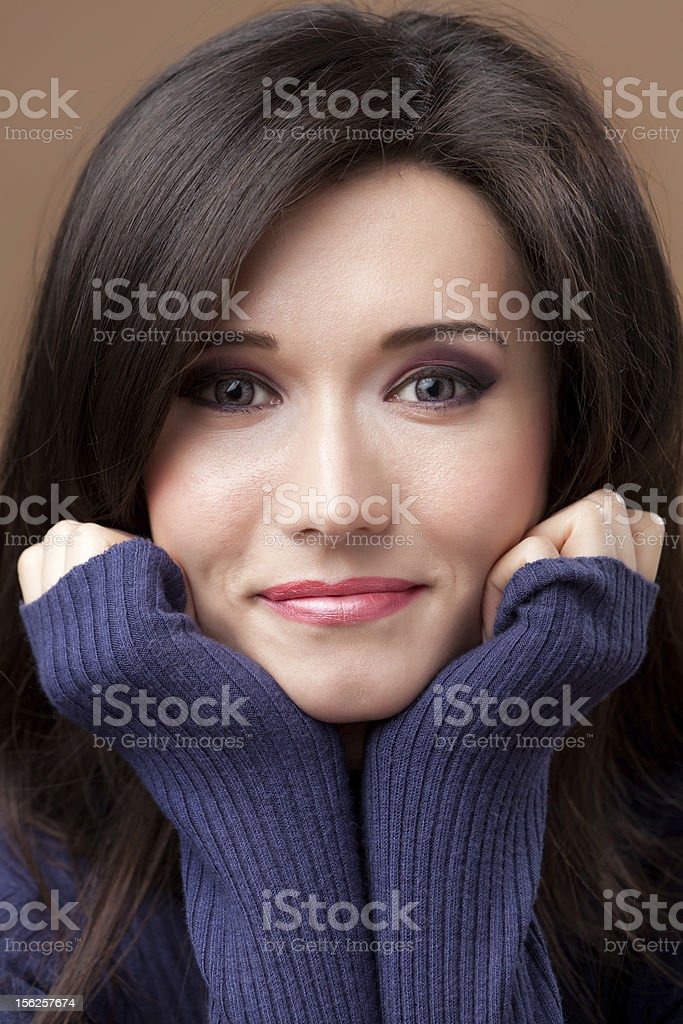 Lovely Brunette Portrait royalty-free stock photo